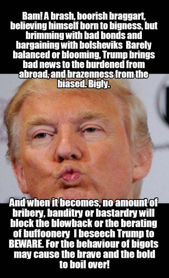 bling, business and bluster of @realdonaldtRump #Liarinchief